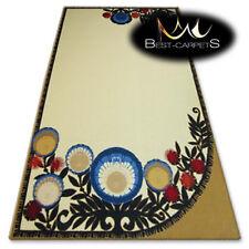 "AMAZING Agnella RUGS wool ""FOLK"" Flowers, cream, blue, red modern designs carpet"
