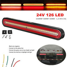 24V Flowing Brake Turn Signal Driving Tail Light 126 LED Car Truck Trailer Lamp