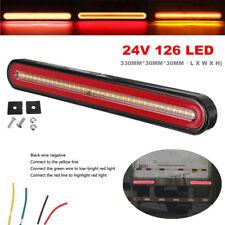 24V Flowing Brake Turn Signal Driving Tail Light 126 LED Car Truck Trailer Lamp