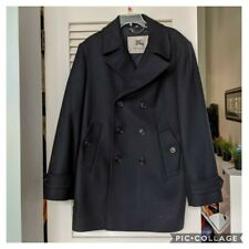 Burberry Double Breasted Wool Blend Pea Coat $1390 orig 52