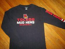 TOLEDO MUD HENS LONG SLEEVE T SHIRT Minor League Baseball Detroit Tigers MEDIUM
