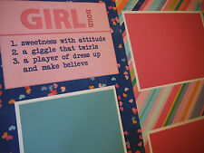 GIRL Friends Two 12x12 Premade Scrapbook Pages 4 Family Daughter