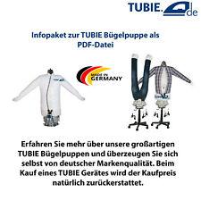 Infopaket TUBIE Hemdenbügler Bügelpuppe Blusenbügler Bügelmaschine Bügeleisen