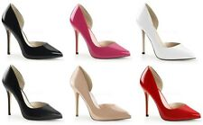 """PLEASER AMUSE 22 5"""" POINTED STILETTO HIGH HEEL COURT SHOES D'ORSAY FASHION 3-13"""