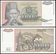 Yugoslavia 10,000 (10000) Dinara, 1993, P-129, UNC