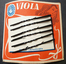1920s KOH-I-NOOR VIOLA 6cm Waved Hair Pins Made in Czechoslovakia