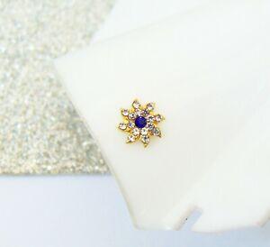 Mother Gift Indian Designer Gold Plated Nose Ring Crock Screw Nose Stud Ear Pin