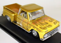 Sunstar 1/18 Scale 1393 1965 Chevrolet C-10 Stepside Pick-up Lowrider Yellow