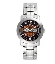Harley-Davidson® Bulova Men's Bar & Shield Logo Stainless Steel Watch 76A019