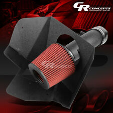 WRINKLE FINISH AIR INTAKE+HEAT SHIELD FOR 07-09 TOYOTA CAMRY/-15 VENZA 3.5 V6