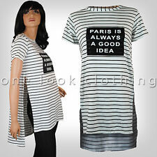 Crew Neck Cap Sleeve Striped Tops & Shirts for Women