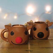 Rudolph The Red Nose Reindeer Heat Change Mug Tea Coffee Fun Secret Santa Gift