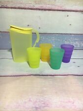 NEW RARE Tupperware Tuper Toy Children Impressions pitcher & Glasses cups (J5