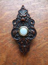 "New Victorian ""Lion & Hound"" Resin Doorbell Push Button"
