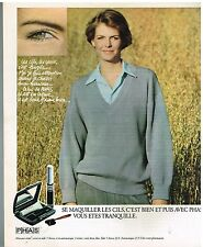 Publicité Advertising 1978 Cosmétique Maquillage Mascara PHAS