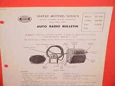 1950 CADILLAC FLEETWOOD 75 LIMOUSINE UNITED MOTORS DELCO GM RADIO SERVICE MANUAL