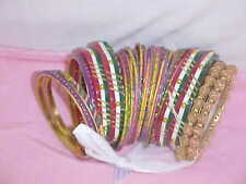 BUNCH Of AMAZING Bangle Sari SKIRT LENGHA CHOLI Outfit Dress BELLY DANCE JEWELRY