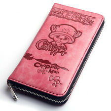 One Piece Cute Tony Tony Chopper Pink Figure leather Cosplay Wallet Purse