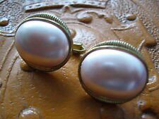 Lovely Vieux Rose Pearly Clip-On Earrings
