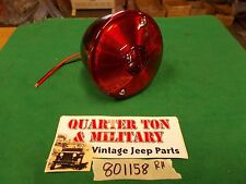 Jeep Willys CJ2A CJ3A CJ3B Civilian style tail light right rear / passinger side