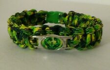 "THE HULK PARACORD BRACELET 550 CORD GREEN YELLOW 8.5"" HANDMADE AVENGERS HEROES"