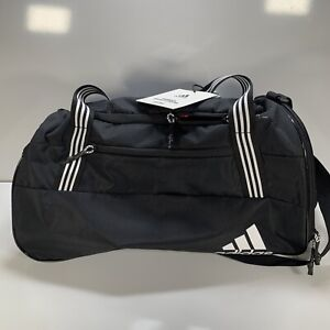 NWT Adidas Squad IV Duffel Bag Black and White