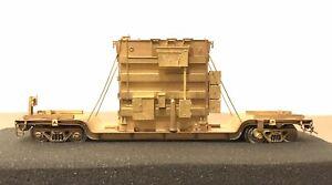 Overland Models HO Scale OMI-1347 Brass Center Flat Car W/ Transformer Load
