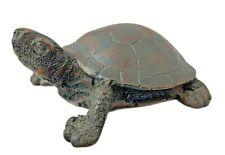 "Turtle Figurine - Brown Resin - 4"" x 3"""