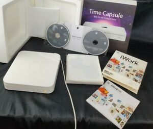 Apple AirPort Time Capsule 2TB (White) A1409 works plus extra software and cable