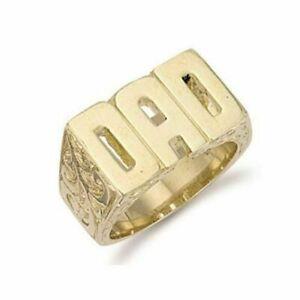 9ct Yellow Gold 12 gram DAD Ring - UK Jewellers