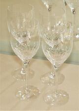 "NEW Orrefors Prelude Set Crystal Claret Stemware Wine Glasses 8 1/4"""