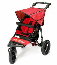 Brand new Out n About nipper single 360 V4 pushchair carnival red and Raincover