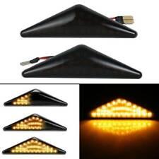 Black Dynamic LED Side Light Indicators Repeater For Ford Focus Mk1 Mondeo Mk3