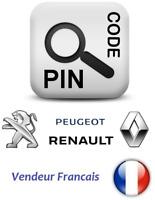 Logiciel Code pin calculateur pour Renault / DACIA / Peugeot / Citroen