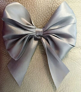 """6 X Silver Sparkle  6"""" wide Bows,Gift bows, Decoration"""