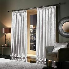 Viceroybedding Pair of Heavy Crushed Velvet Curtains Eyelet Ring Top Ready Made