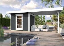 Weka Gartenhaus Designhaus wekaLine 172 B Gr.3, anthrazit 590 x 300 cm