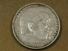 1935 F Germany 5 Mark Nazi Silver Coin