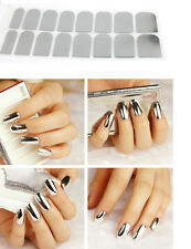 2 sheets Silver Nail Sticker Metallic Glitter Nail Art Decal Attractive Nails