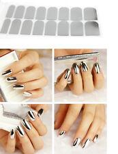 2 sheets Silver Nail Sticker Metallic Glitter Nail Art Decal Attractive Nails