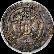 """FINEST """"EDWARD THE VICTORIOUS"""" KING EDWARD IV GROAT 4P  PCGS XF40, TONED, 0@ NGC"""