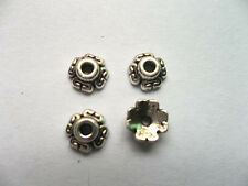 100pcs beautiful Tibet silver Flower End Beads Caps 6.5x3mm