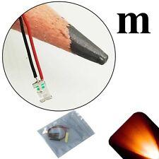 5 x 12v 1206 3216 Orange Amber SMD LED Pre-Wired Light Soldered Leads 9v 18v