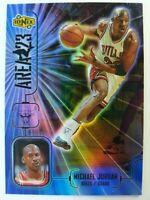 Michael Jordan 1998 UPPER DECK IONIX #A1 AREA 23 HOLOFOIL REFRACTOR LIKE INSERT