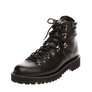LEFT SHOE ONLY RRP €970 VALENTINO GARAVANI Leather Combat Boot EU 45 UK 11 US 12
