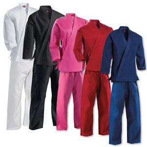 KANKU New Karate Uniform, Gi for Adult and Kids, black, white, blue, red, pink
