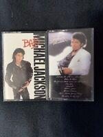 Vintage Michael Jackson Cassette Lot Thriller Bad Epic Made In USA