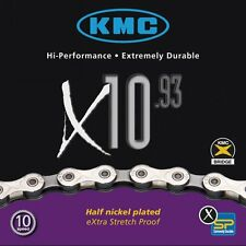 KMC X10.93 10-Speed 116-Links Bicycle Chain Silver/Grey 1/2x11/28-Inch