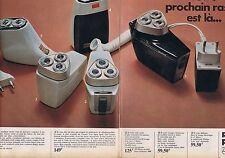 Publicité Advertising 016 1968 Philips rasoirs électriques (2 pages)