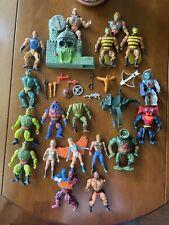 Mattel MOTU He-Man Figures Lot#2:  Man-e-faces; Rokkon; Rio Blast; Two Bad; Etc.